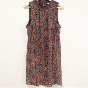 DR2 BY DANIEL RAINN Brown Print Sleeveless Dress